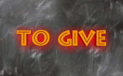 to give