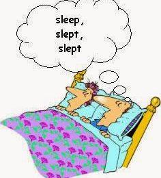 Ceci est le verbes irréguliers anglais dormir