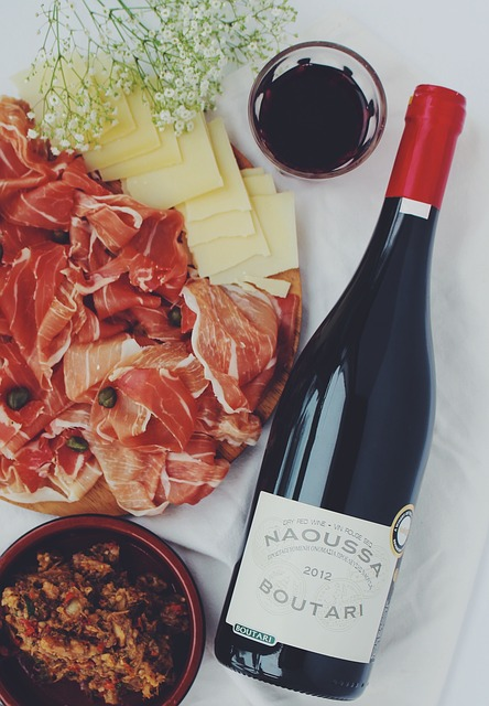 vin fromage et jambon